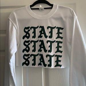 STATE STATE STATE Michigan State Crewneck cropped
